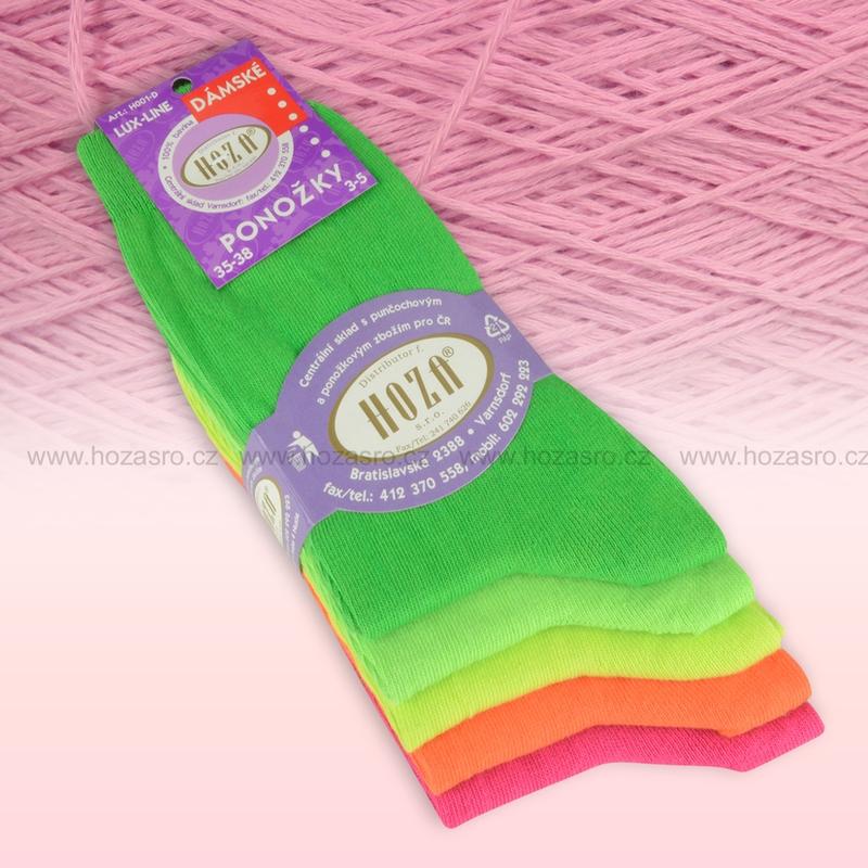 Dámské ponožky HOZA 100% bavlna-barevný mix-5 párů 9d2f242c3f