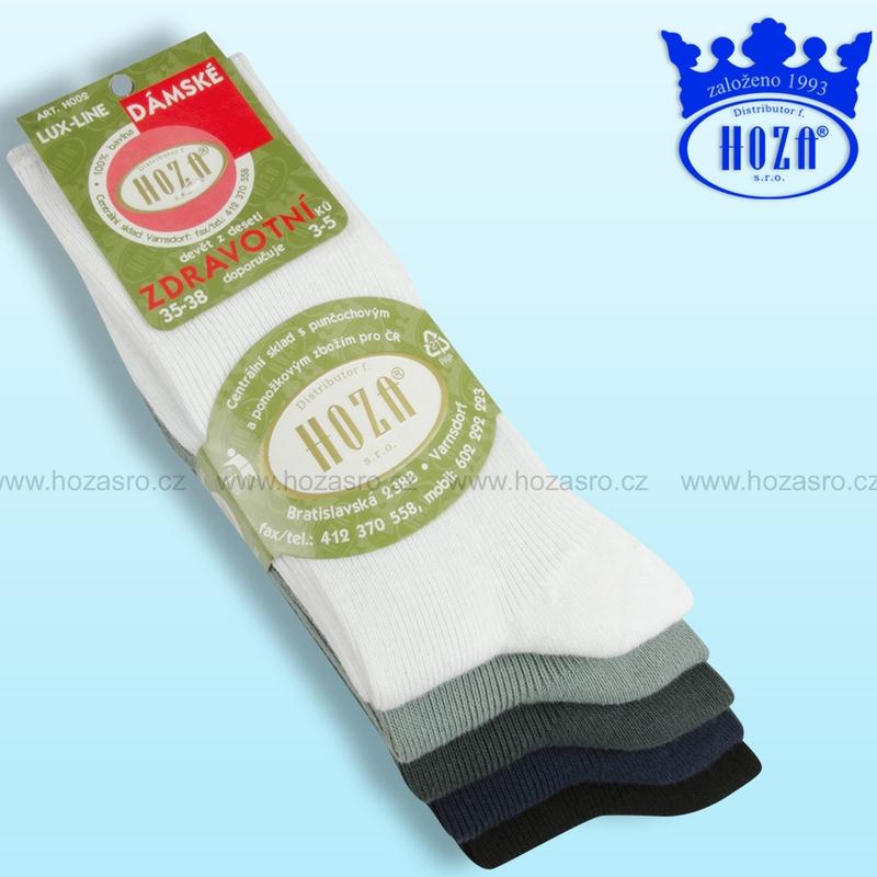 Dámské zdravotní ponožky HOZA 100% bavlna-tmavý mix-5 párů ... 490245ddf9