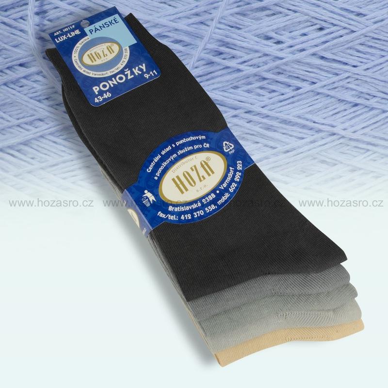 Pánské ponožky HOZA 100% bavlna-šedý mix-5 párů  b4c89297bd