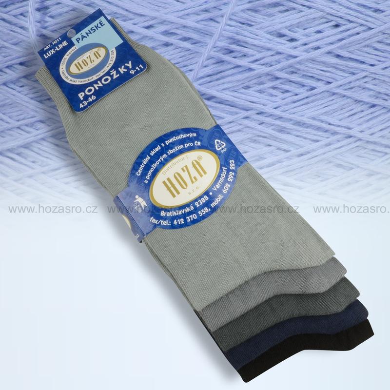 Pánské ponožky HOZA 100% bavlna-tmavý mix-5 párů d720e233bd