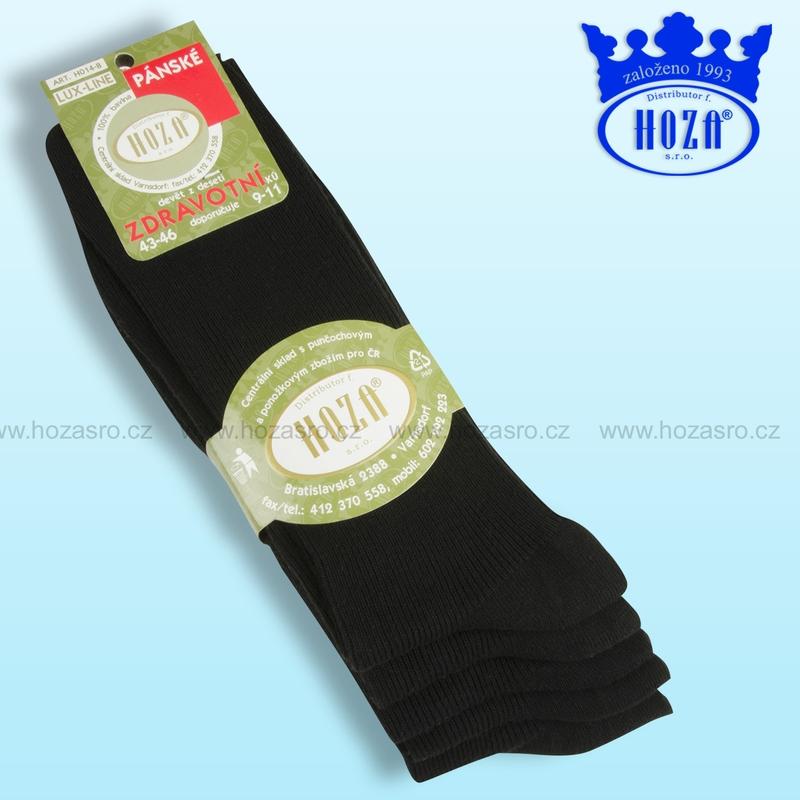 Pánské zdravotní ponožky HOZA 100% bavlna-černý mix-5 párů 94946fa431