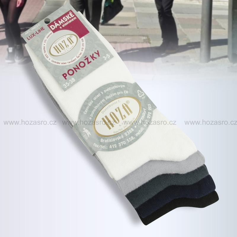 Dámské ponožky HOZA elastan-tmavý mix-5 párů  88cdeb9c6f