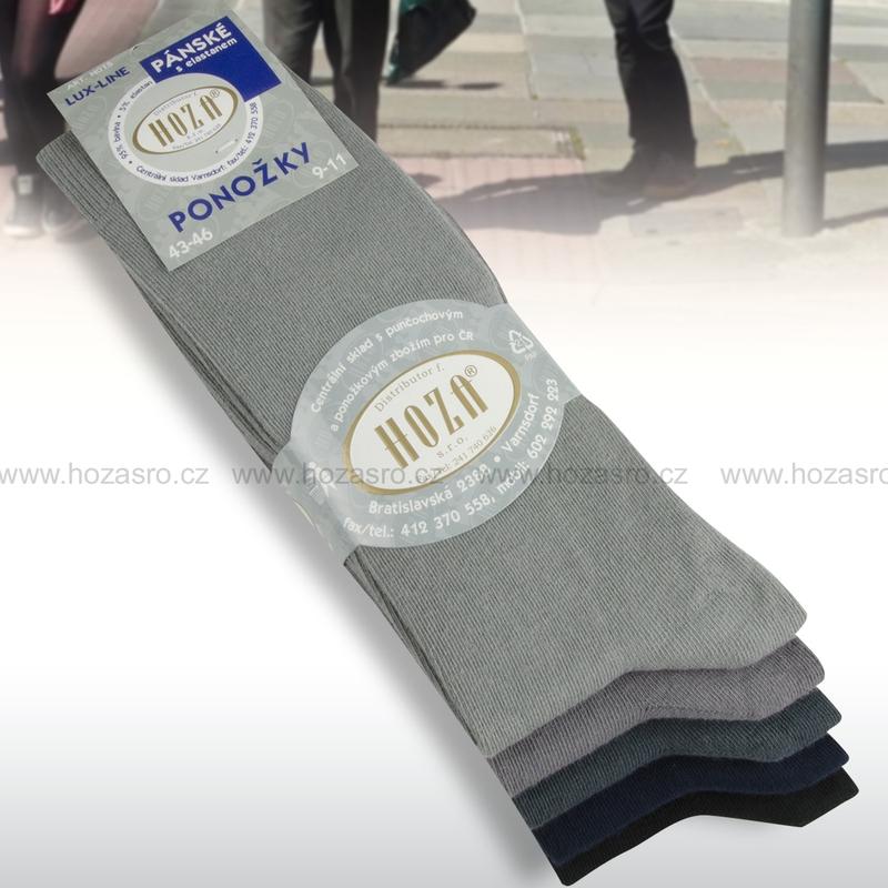 Pánské ponožky HOZA elastan-tmavý mix-5 párů  6bc1457597